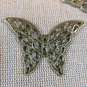 Connecteurs papillon bronze filigrané 41X29mm – lot de 5