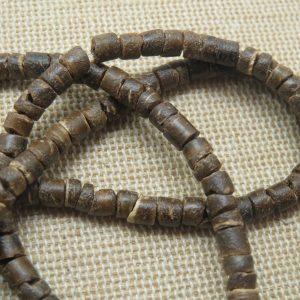 Perles palet en bois de coco naturelle 4mm – lot de 25