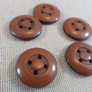 Boutons marron effet roue de voiture bouton de couture vintage – lot de 5