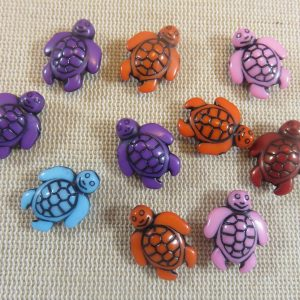 Perles tortue de mer en acrylique 18mm – lot de 10