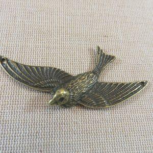 Pendentif oiseau bronze 73x35mm en métal – breloque animaux