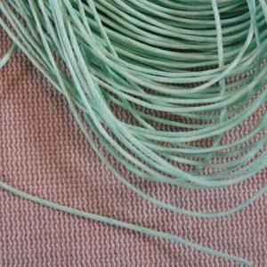 Fil cordon vert clair 1mm – vente par 10 mètres