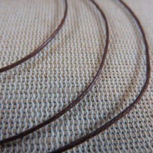 Fil cordon marron 1mm – vente par 10 mètres