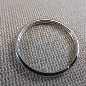 Anneaux porte clé 25mm métal ton argenté – lot de 10