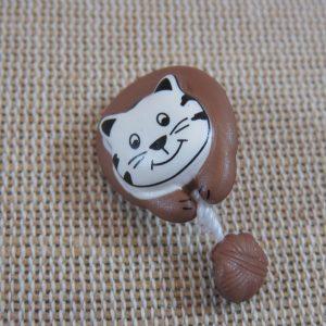 Boutons chat marron 28mm bouton de couture UnionKnopf – lot de 2