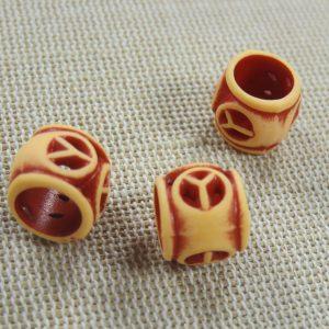 Perles dreadlocks acrylique gros trou – lot de 3