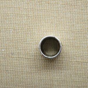 Perle colonne gravé fleur argenté 20x11mm – pour cheveux dreadlocks Hippie