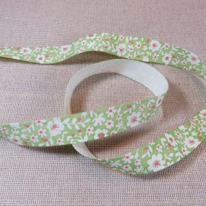 Ruban liberty fleuri 15mm coton – vente par 3 mètres