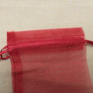 Sachets organza rouge vin 15x10cm emballage cadeau – lot de 5