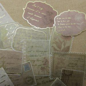 Stickers carte postale vintage lettre ancienne rétro scrapbooking