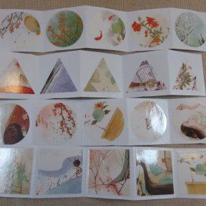 étiquettes japon autocollante stickers scrapbooking 40pcs