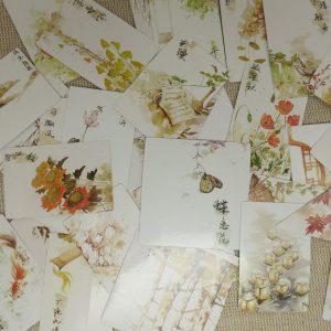 étiquettes autocollant japon stickers scrapbooking / 40pcs