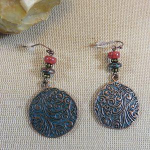 Boucles d'oreille arabesque bohème – bijoux cadeaux femme