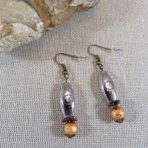 Longue boucles d'oreille bohème argenté doré bijoux femme