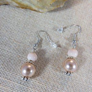 Boucles d'oreille perlée pendante – bijoux d'oreille cadeaux femme