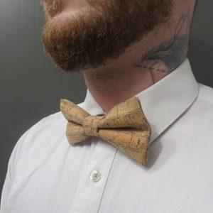 Nœud papillon en liège ajustable – accessoire mode homme