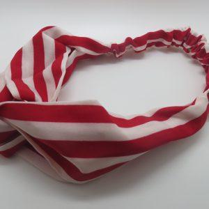 Bandeau cheveux femme tissu rayé, serre-tête headband taille unique