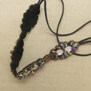 Bandeau cheveux femme headband cousu de perles
