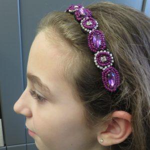Bandeau cheveux femme perlée – serre-tête headband taille unique