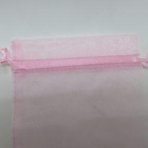 Sachets organza rose 15x10cm emballage cadeau – lot de 5