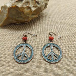 Boucles d'oreille Hippie – bijoux femme cadeaux pour maman