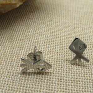 Boucles d'oreille Rune viking puces celtique bijoux femme ou homme
