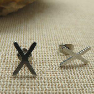 Puces d'oreille viking Rune celtique bijoux femme ou homme