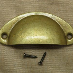 Poignée tiroir bronze demi-cercle bouton de porte placard style rétro