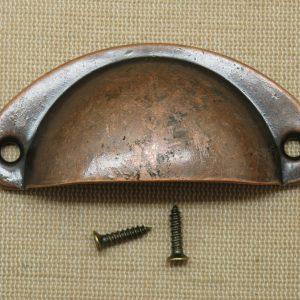 Poignée tiroir cuivré demi-cercle bouton de porte placard style rétro