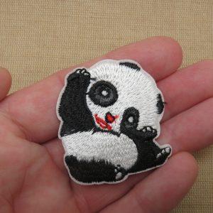écusson thermocollant panda – patch panda pour vêtement