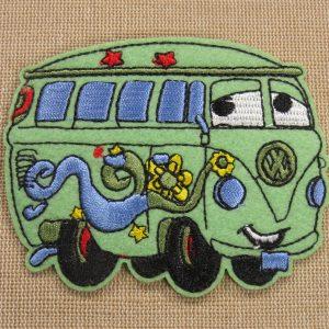 Patch combi van hippie écusson thermocollant brodé véhicule vintage