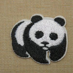 écusson panda thermocollant – patch panda pour vêtement