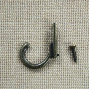 Patère style rétro ancien – un crochet bronze effet vintage pour clés serviette torchon