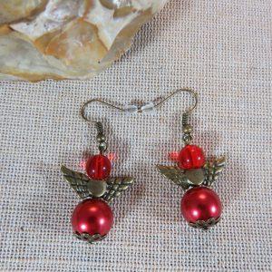 Boucles d'oreille ange steampunk – bijoux femme
