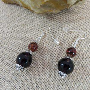 Boucles d'oreille perlée bijoux bohème pour femme