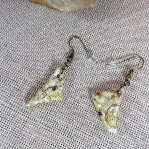 Boucles d'oreille tribal ethnique en pâte polymère bijoux femme