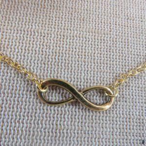Bracelet de cheville infini doré – bijoux d'été plage chaîne de cheville