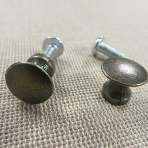 Poignée bouton de tiroir rond bronze meuble style rétro – lot de 2