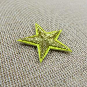 Patch étoile Or thermocollant 30mm – écusson textile à repasser