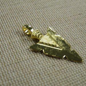 Pendentif pointe de flèche doré 30mm breloque création bijoux Punk