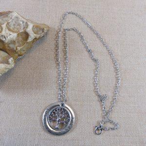 Collier Arbre de Vie gravé bijoux de famille – cadeaux pour maman