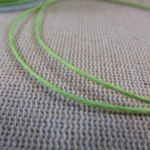 Fil cordon vert anis 1mm – vente par 10 mètres