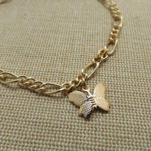 Chaine de cheville papillon doré – bijoux de plage femme