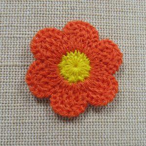 Appliqué fleur à coudre – écusson nature patch pour vêtement