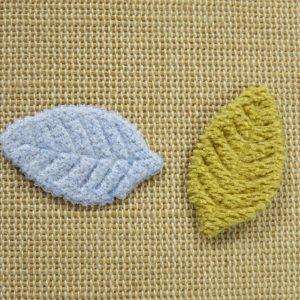 Appliqué feuilles à coudre – écusson nature patch pour vêtement
