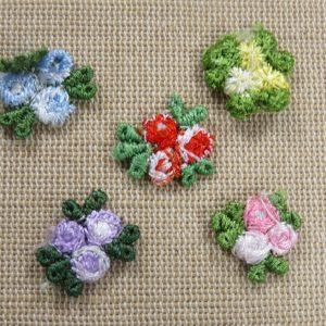 Appliqué petite fleur à coudre – écusson nature patch pour vêtement