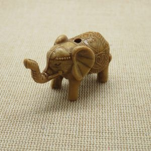 Perle éléphant Ganesh 3D – Grande perle acrylique
