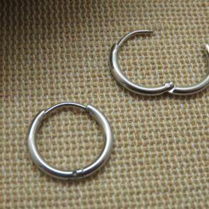 Boucles d'oreille anneaux punk acier inoxydable – Bijoux mixte