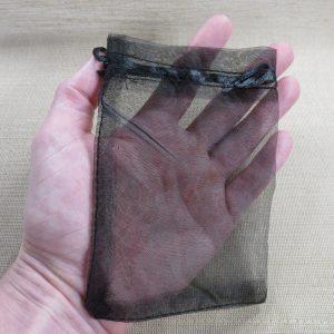 Sachets organza noir 15x10cm emballage cadeau – lot de 5