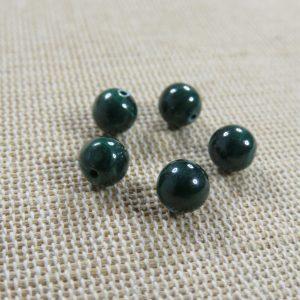 Perles Malachite AAA 6mm pierre de gemme – lot de 5